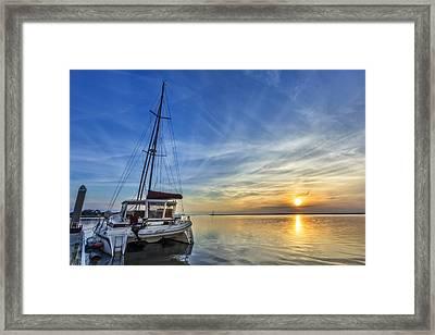 Sunset Framed Print by Debra and Dave Vanderlaan