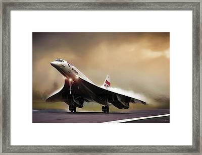 Sunset Departure Framed Print by Peter Chilelli