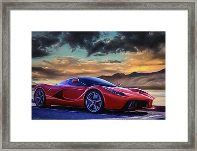 Sunset Drive Framed Print by Peter Chilelli
