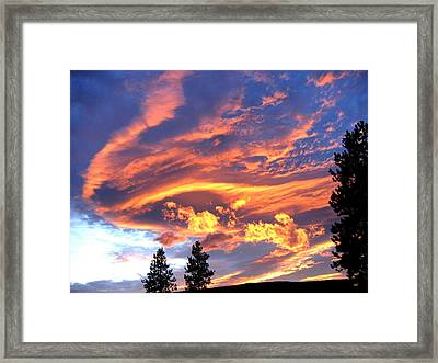 Sunset Extravaganza Framed Print by Will Borden