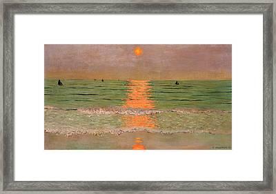 Sunset Framed Print by Felix Edouard Vallotton