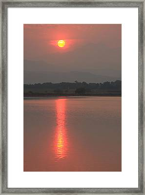 Sunset Fire Framed Print by James BO  Insogna