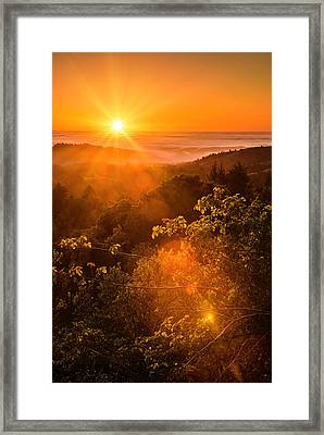 Sunset Fog Over The Pacific #2 Framed Print by Bryant Coffey