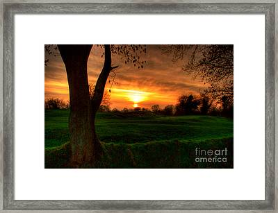 Sunset For The Past Framed Print by Kim Shatwell-Irishphotographer