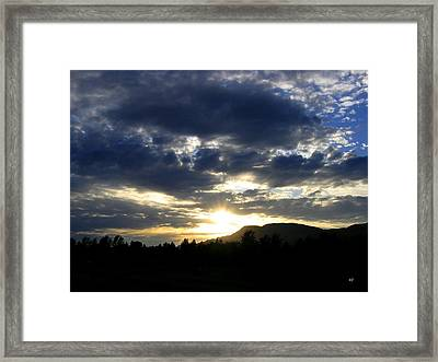 Sunset From Mcarthur Island Framed Print by Will Borden