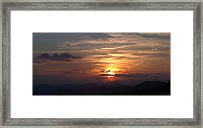 Sunset From The Blue Ridge Parkway Ll Framed Print by John Harmon