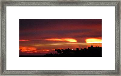 Sunset From The Villa 7 Framed Print by Megan Saul