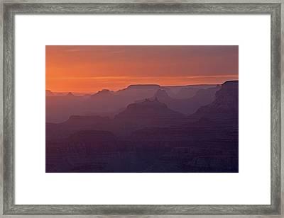 Sunset Grand Canyon Framed Print by Dean Pennala