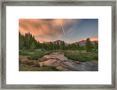 Sunset In High Sierra Framed Print by Bill Roberts