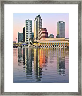 Sunset In Tampa Framed Print by Frozen in Time Fine Art Photography