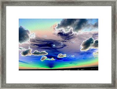 Sunset In Tampa Framed Print by Peter  McIntosh