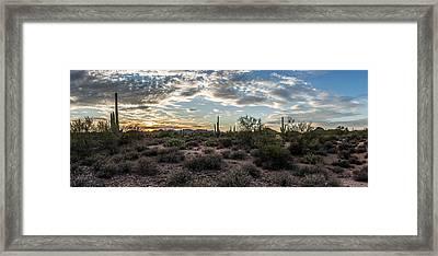Sunset In The Desert Framed Print by Chuck Brown