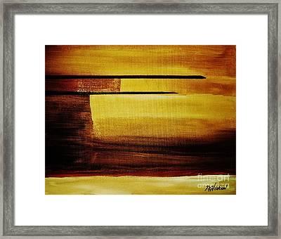Sunset In The Desert Framed Print by Marsha Heiken