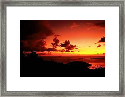Sunset In The Islands Framed Print by Bill Jonscher