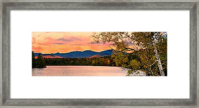 Sunset In The Mountains Framed Print by Brad Hoyt