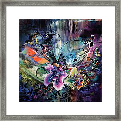 Sunset In The Tropics - Flower Power Framed Print by Susan Card