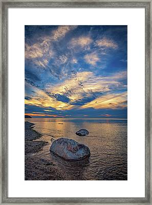 Sunset In Wading River Framed Print by Rick Berk