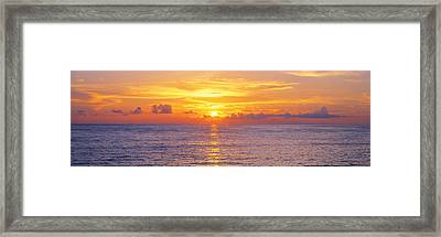 Sunset, Indian Rocks Beach, Florida, Usa Framed Print by Panoramic Images