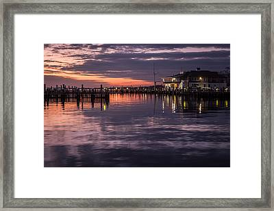 Sunset Island Heights Yacht Club Framed Print by Terry DeLuco