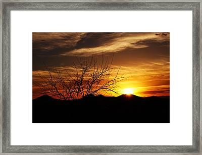 Sunset Framed Print by Joseph Frank Baraba