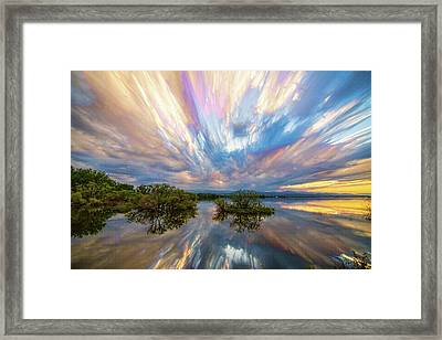 Sunset  Lake Reflections Timed Stack Framed Print by James BO Insogna