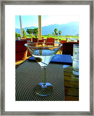 Sunset Martini Framed Print by Randall Weidner