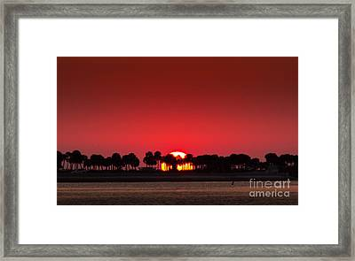 Sunset Framed Print by Marvin Spates