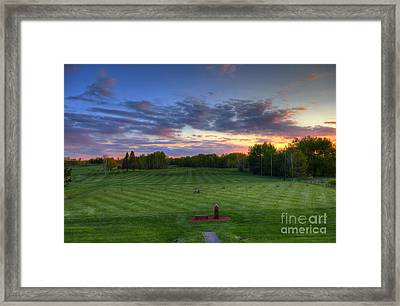 Sunset Minnesota National Golf Course Championship Course Framed Print by Wayne Moran