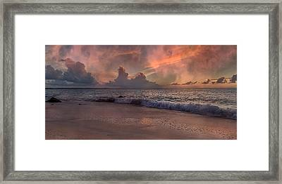 Sunset Movie  Framed Print by Betsy C Knapp
