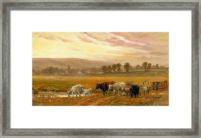 Sunset Near Amberley Framed Print by Alfred Fitzwalter Grace