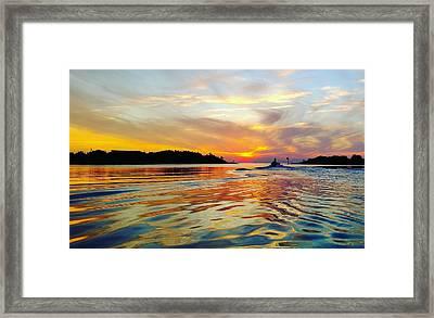 Sunset Net Check Framed Print by Karen Rhodes