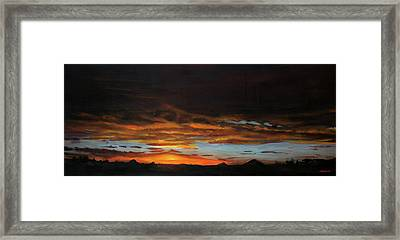 Sunset Northern Cape Framed Print by Christopher Reid