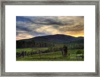 Sunset On Appleberry Mountain 2 Framed Print by Pete Hellmann