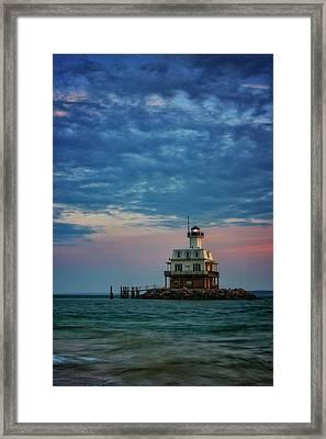 Sunset On Gardiners Bay Framed Print by Rick Berk