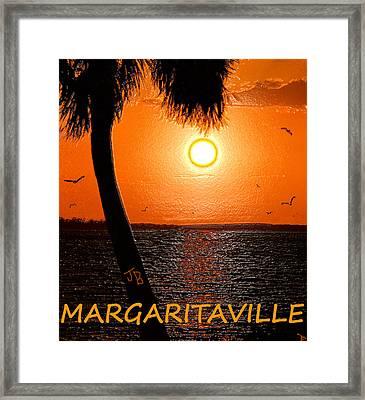 Sunset On Margaritaville Framed Print by David Lee Thompson
