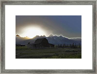 Sunset On Mormon Row  Wy Framed Print by Vijay Sharon Govender