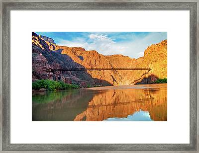 Sunset On The Colorado At Grand Canyon Framed Print by Steven Barrows