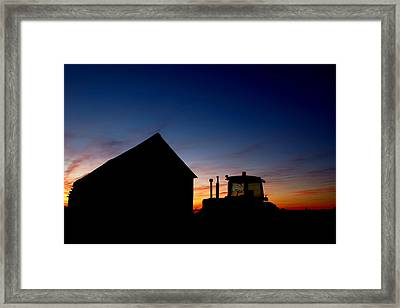 Sunset On The Farm Framed Print by Cale Best