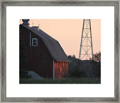 Sunset On The Farm Framed Print by Lauri Novak