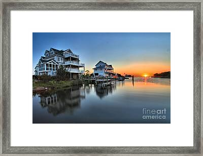 Sunset On The Obx Sound Framed Print by Adam Jewell