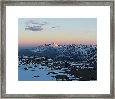 Sunset On Trail Ridge Road  Framed Print by Aaron Spong