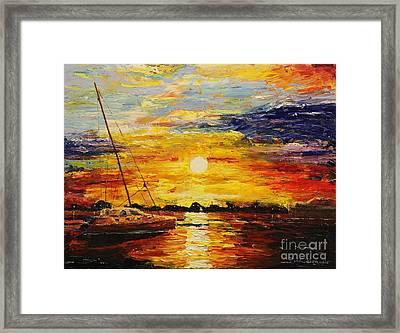 Sunset Over Charleston Harbor Framed Print by Rich Donadio
