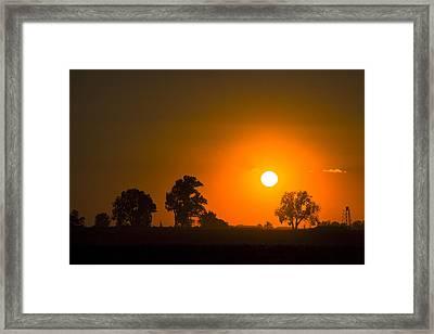 Sunset Over Farmland Framed Print by Andrea Kappler