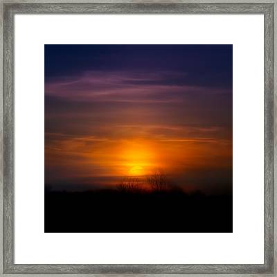 Sunset Over Scuppernong Springs Framed Print by Scott Norris