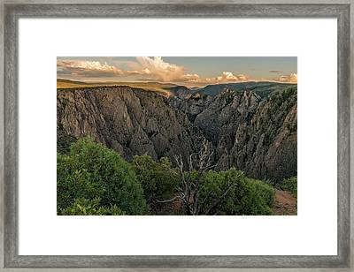 Sunset Over The Black Canyon Framed Print by Loree Johnson