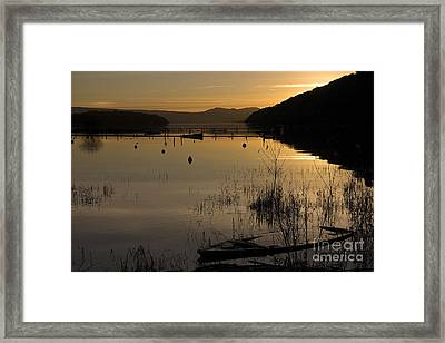 Sunset Over The Lake Framed Print by Carole Lloyd