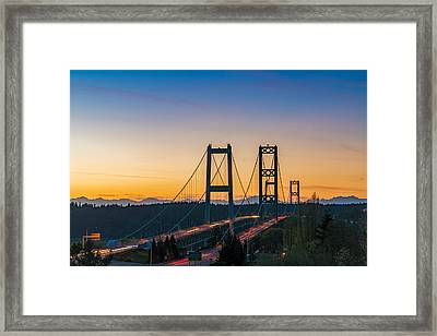 Sunset Over The Narrows Framed Print by Ken Stanback