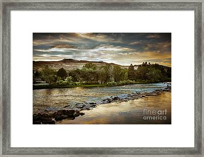 Sunset Over The Payette River Framed Print by Robert Bales