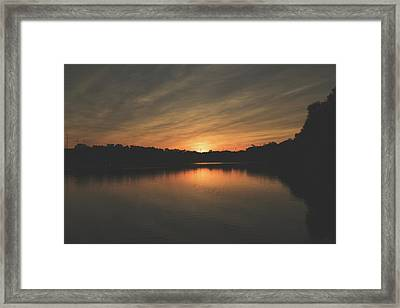 Sunset Over The Schuykill River Framed Print by Howard Roberts