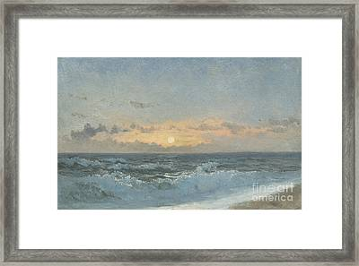 Sunset Over The Sea Framed Print by William Pye